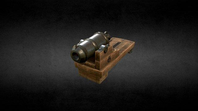 Naval carronade 24lb (low poly) 3D Model