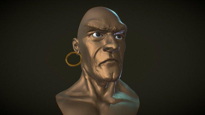 Mad Man 3D Model