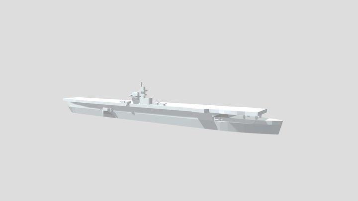 KMS Graf Zeppelin- Model for 1/4000 printing 3D Model