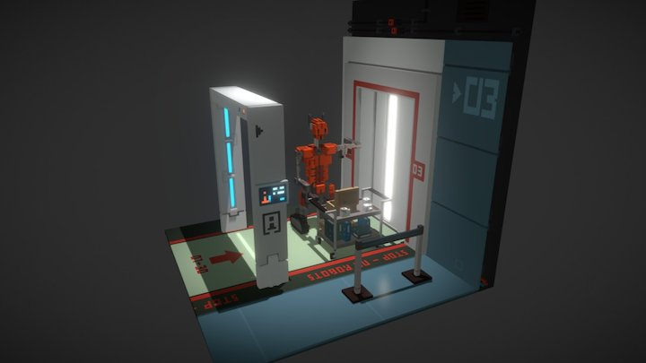 A Robot is Coming! 3D Model