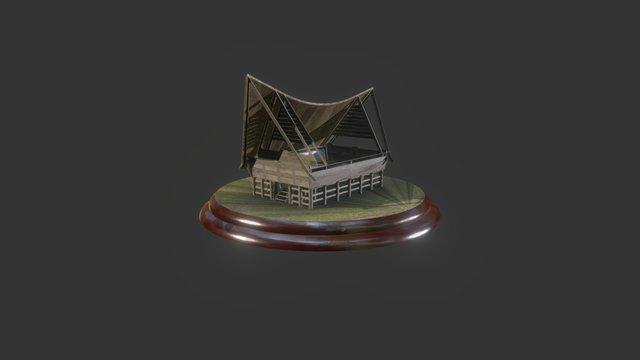 Toba Batak Open Roof 3D Model