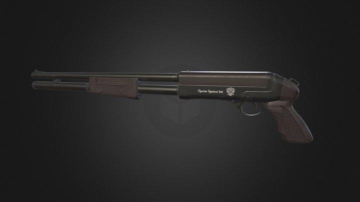 Pump shotgun TOZ 194 3D Model