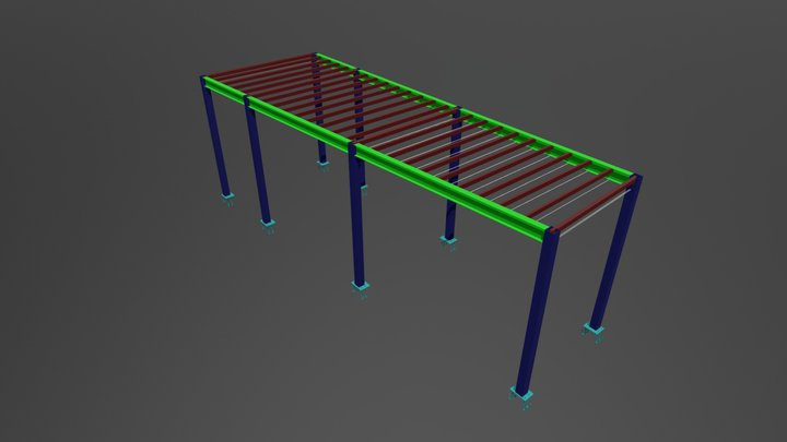 Job N2 Steel Structure Extension 3D Model