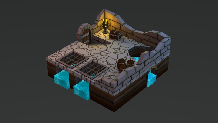 Small Dungeon Diorama 3D Model