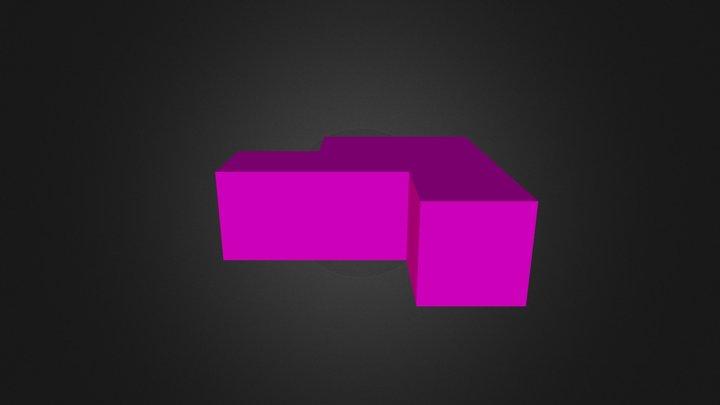 Demo purple cubes 3D Model