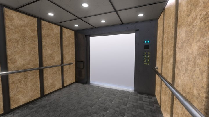Elevator ( PBR - Game ready ) 3D Model