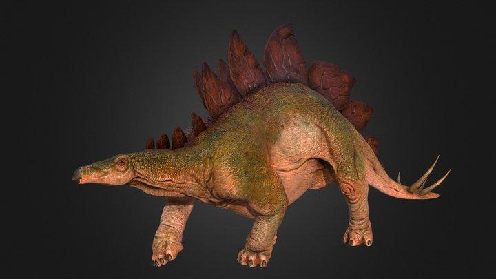 Jurassic Park Stegosaurus for your Games/Movies 3D Model