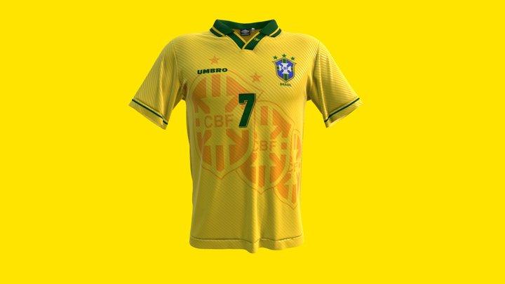 Seleção Brasileira 1994 - Camisa Titular 3D Model