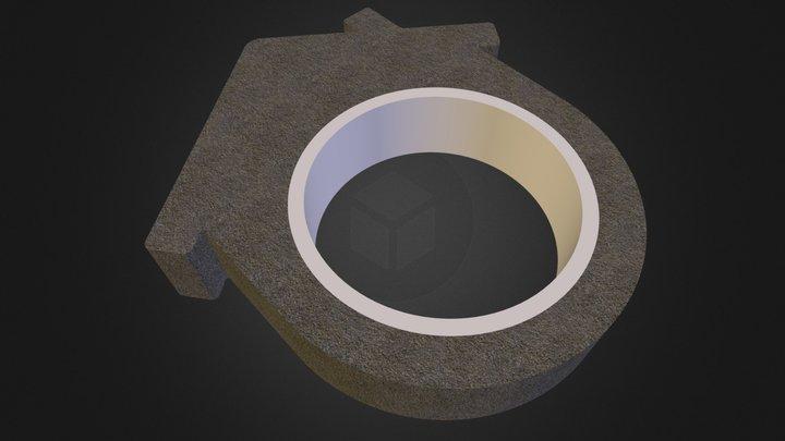DIY Concrete House Ring - Gable Roof 3D Model