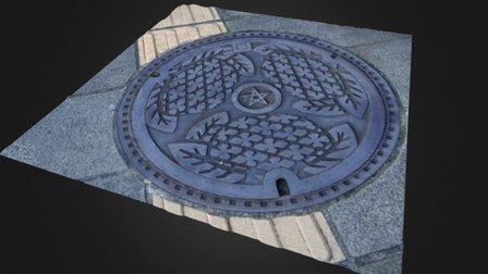 Nagasaki Manhole3D 3D Model
