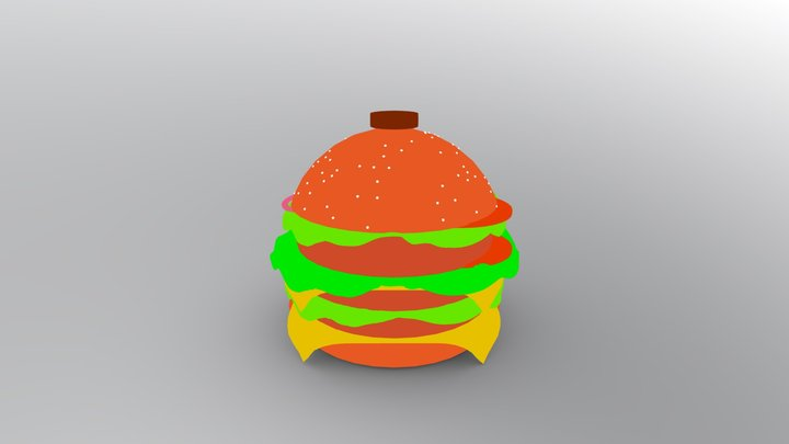Burger house 3D Model