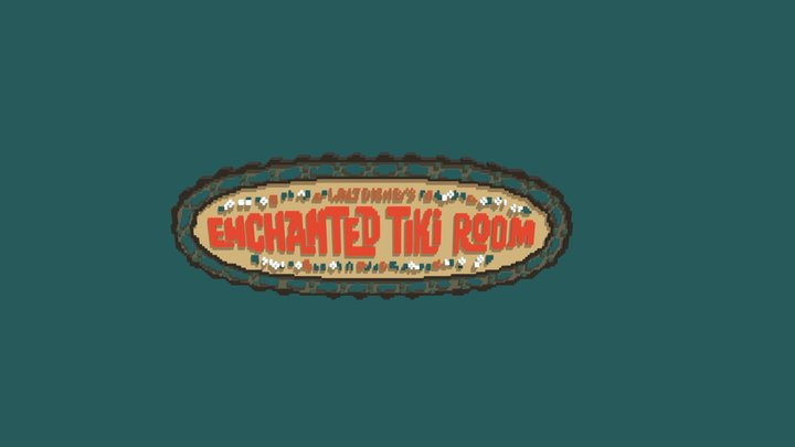 Enchanted Tiki Room Sign Disney Files Included 3D Model