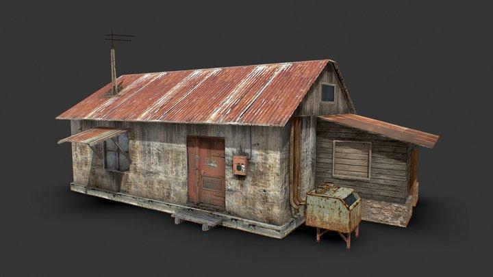 Low   House   Building   Apocalypse   Dirty 3D Model