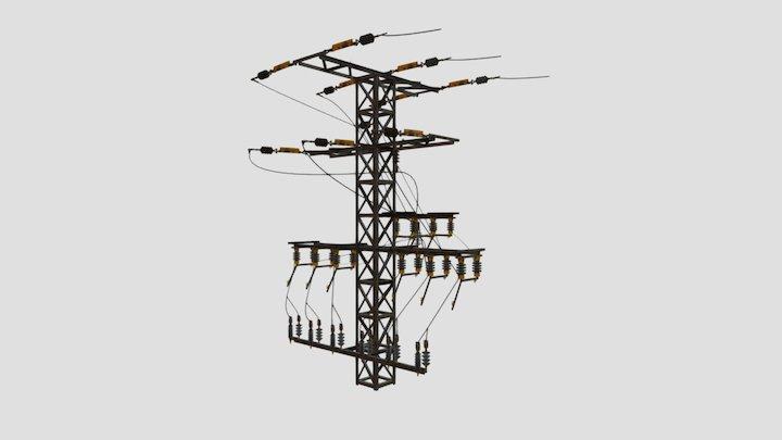 Torre Alto Voltaje 3D Model