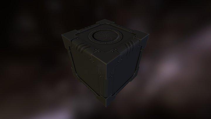 Crate Scifi 1- F B X 3D Model