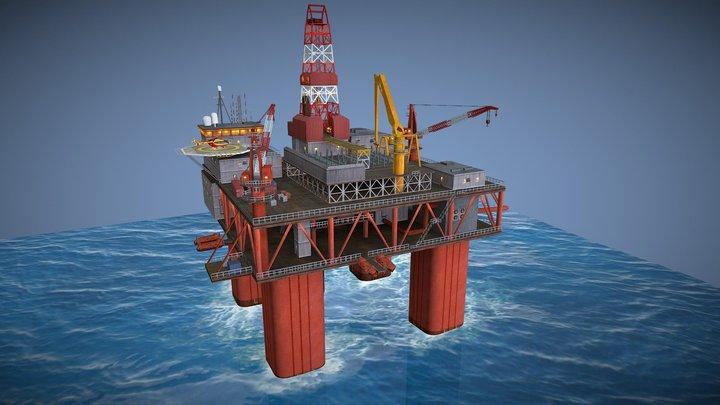 "Offshore Platform - game model for ""Cities XL"" 3D Model"