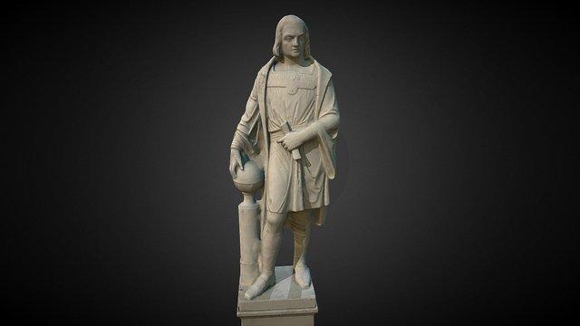 Cristóbal Colón en la Cartuja de Sevilla 3D Model