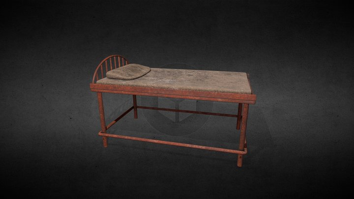 Bed from creepy hospital 3D Model