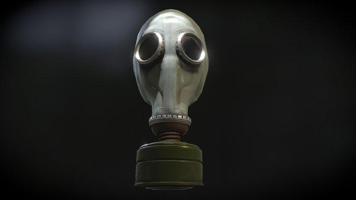 Russian GP-5  Gas Mask - (Filter Damaged) 3D Model