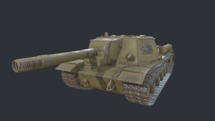 Su-152 anti-tank self-propelled artillery 3D Model