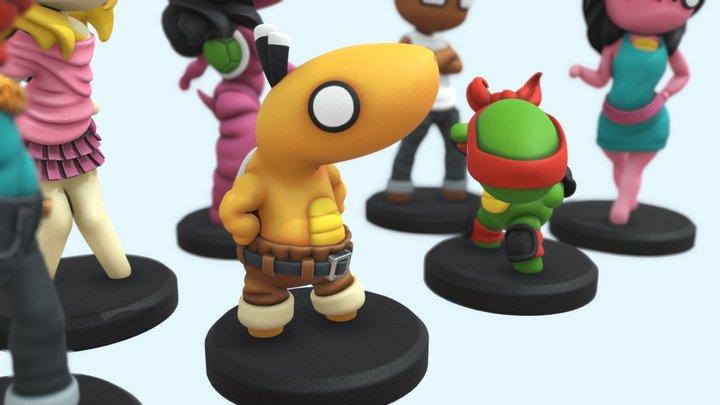 Board Game Tokens (Turtley Democracy) 3D Model