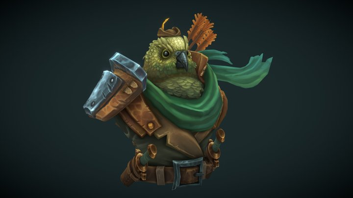 Sir Feathers, Cutthroat Bandit! #3dBustChallenge 3D Model