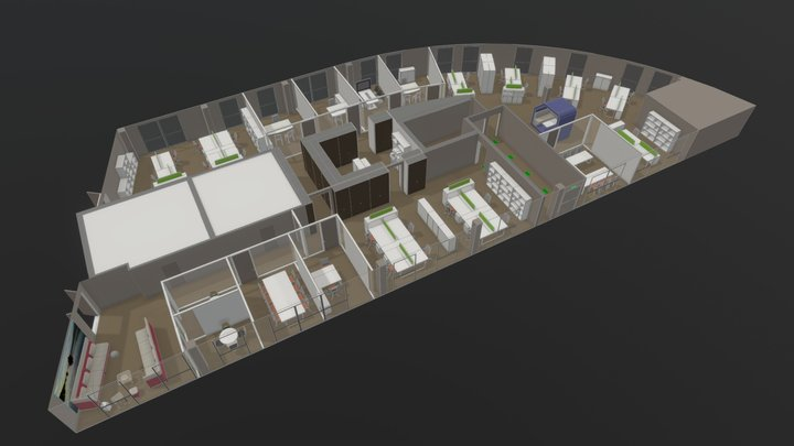 Space Planning in Montpellier 3D Model