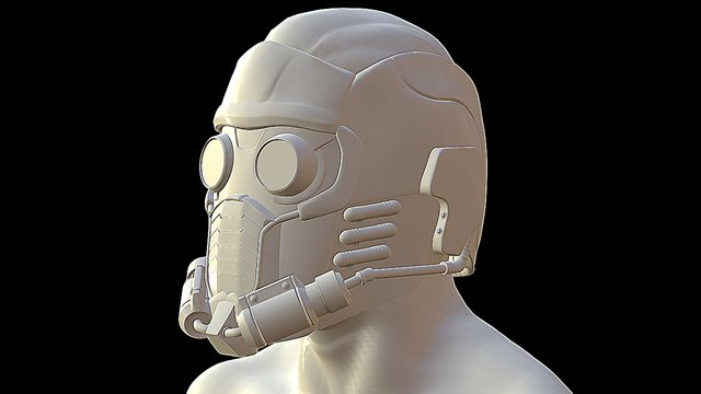 Star- Lord Helmet 3D Model