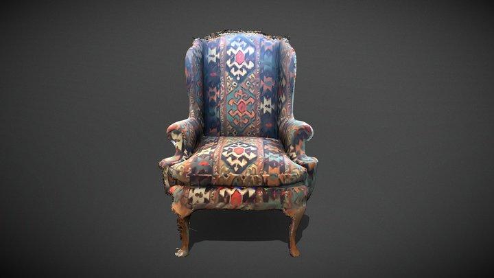 high back chair 3D Model