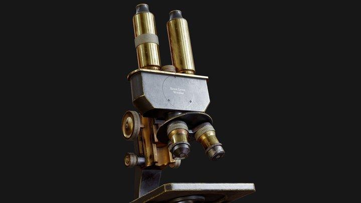Game Ready PBR Microscope 3D Model