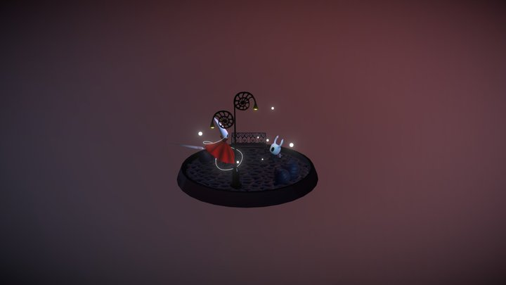 Knight & Hornet - Hollow Knight 3D Model