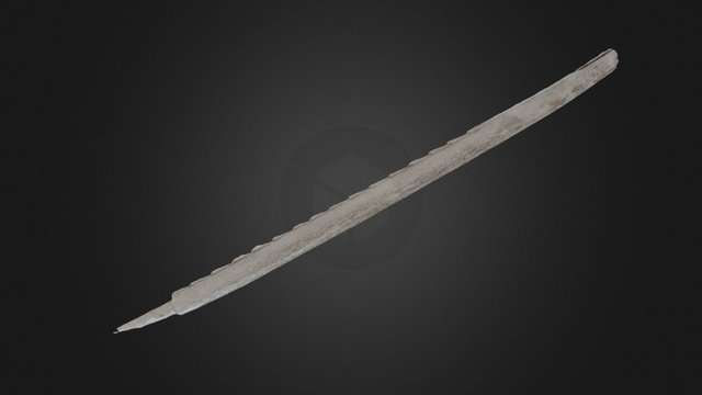 Ice Patch Spear Point 3D Model