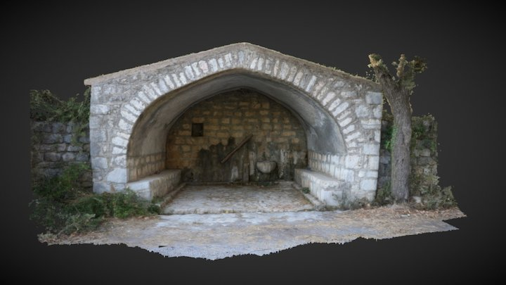 19th century fountain house in Greece 3D Model