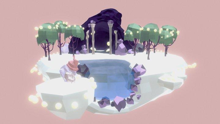 Low poly scene 3D Model