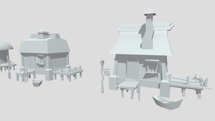 Draftpunk4_ silhouettes_dz3 3D Model
