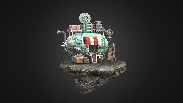 Traveling Submarine Diorama 3D Model