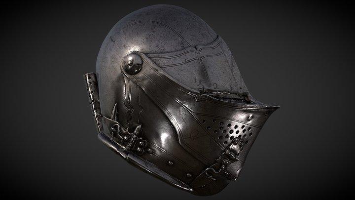 Jousting Helmet 3D Model