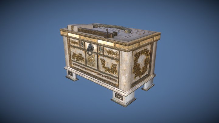 Old Roman Style Treasure Chest [animated] 3D Model
