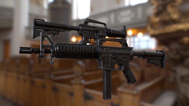 Colt 9mm SMG 3D Model