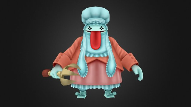 Quina - Final Fantasy IX (Fan Art) 3D Model