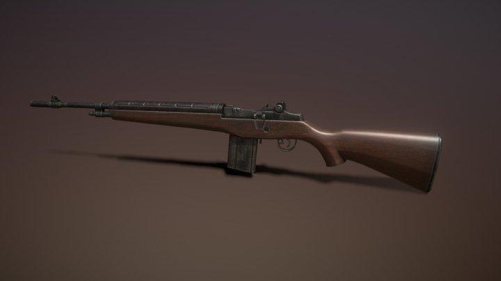 M-14 Rifle 3D Model