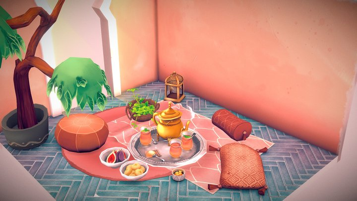 Marrakesh Tea Party 3D Model