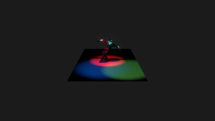 Warrior 001 Break 3D Model