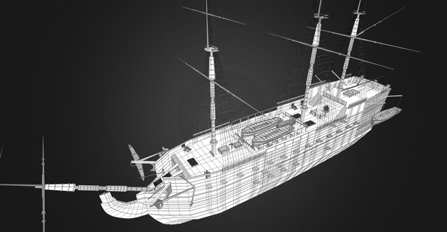 Hms Victory 3D Model