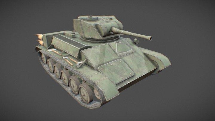 T-80 Toon Tank 3D Model