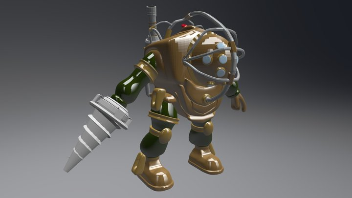 Portafolio 3 SCREW - Big Daddy 3D Model
