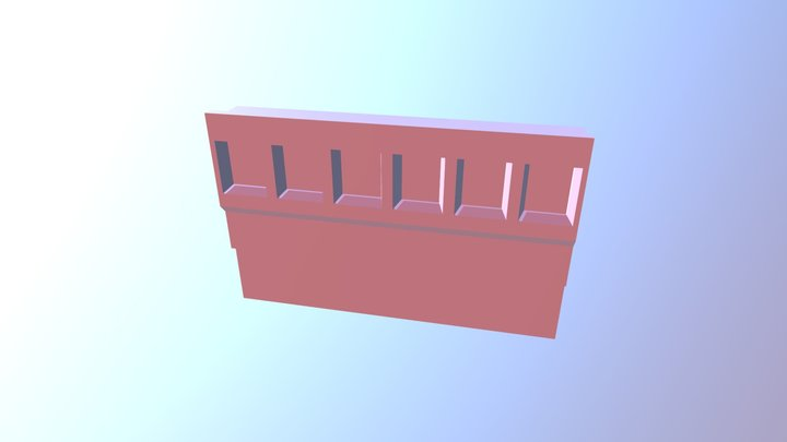 Wall With 6 Segments 3D Model