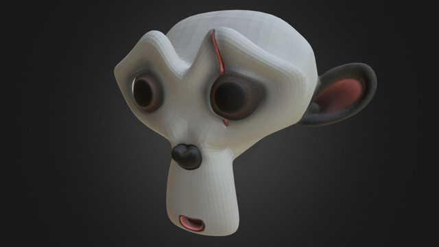 Suzanne W.Scar Practice Texturing 3D Model