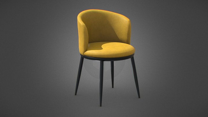 Eisner barrel Chair 3D Model