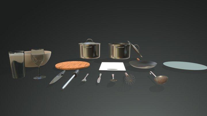 Kitchen Pack 3D Model